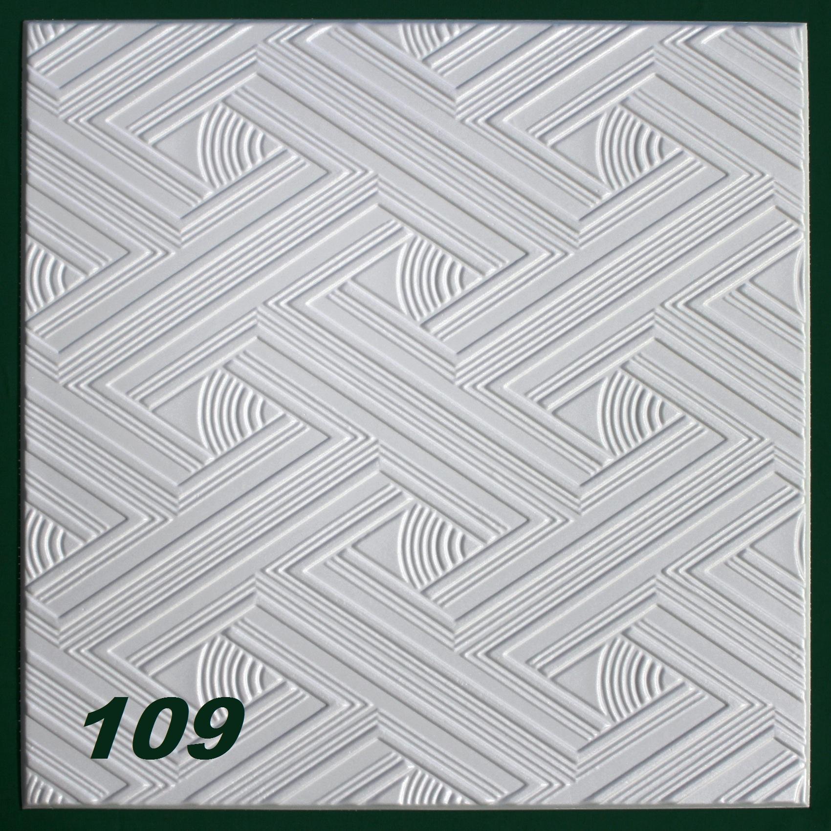 Hexim d cor plaque de plafond n 109 blanc for Peindre plaque polystyrene plafond