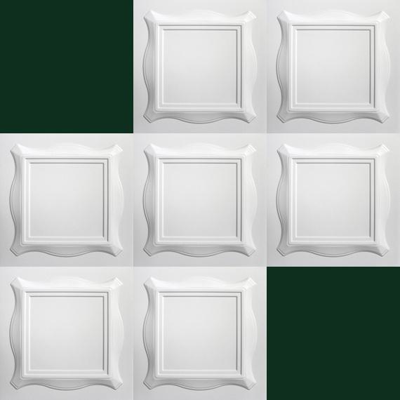 1 m2 deckenplatten styroporplatten stuck decke dekor platten 50x50cm. Black Bedroom Furniture Sets. Home Design Ideas