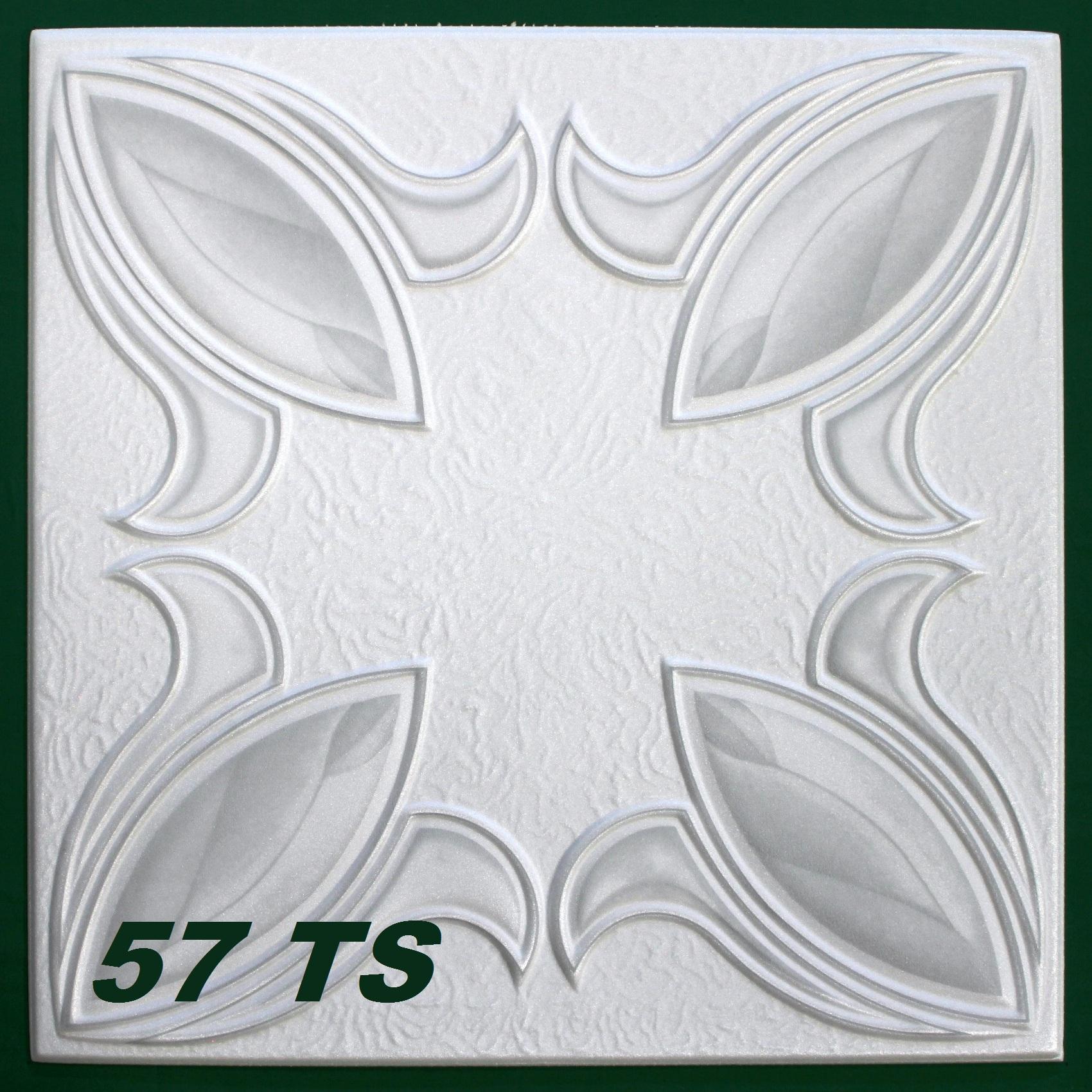 1 m2 deckenplatten styroporplatten stuck farbige platten 50x50cm ts ebay. Black Bedroom Furniture Sets. Home Design Ideas