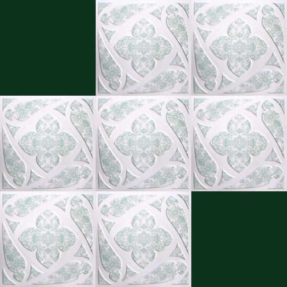1 m2 deckenplatten styroporplatten stuck farbige platten 50x50cm dz ebay. Black Bedroom Furniture Sets. Home Design Ideas