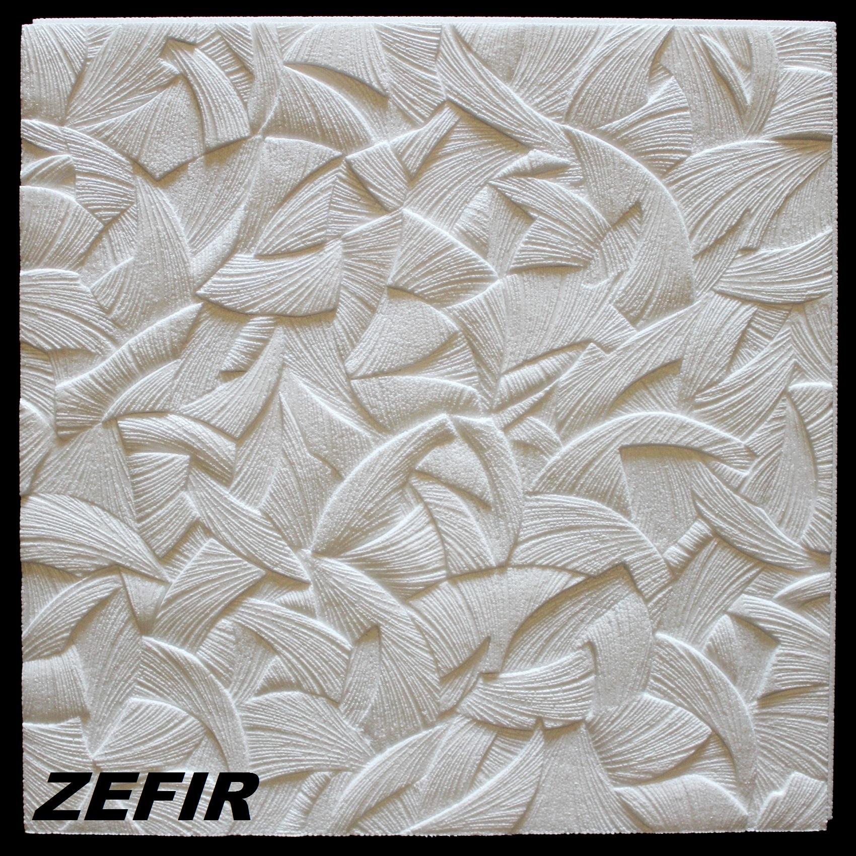 wallpaper on ceiling tiles