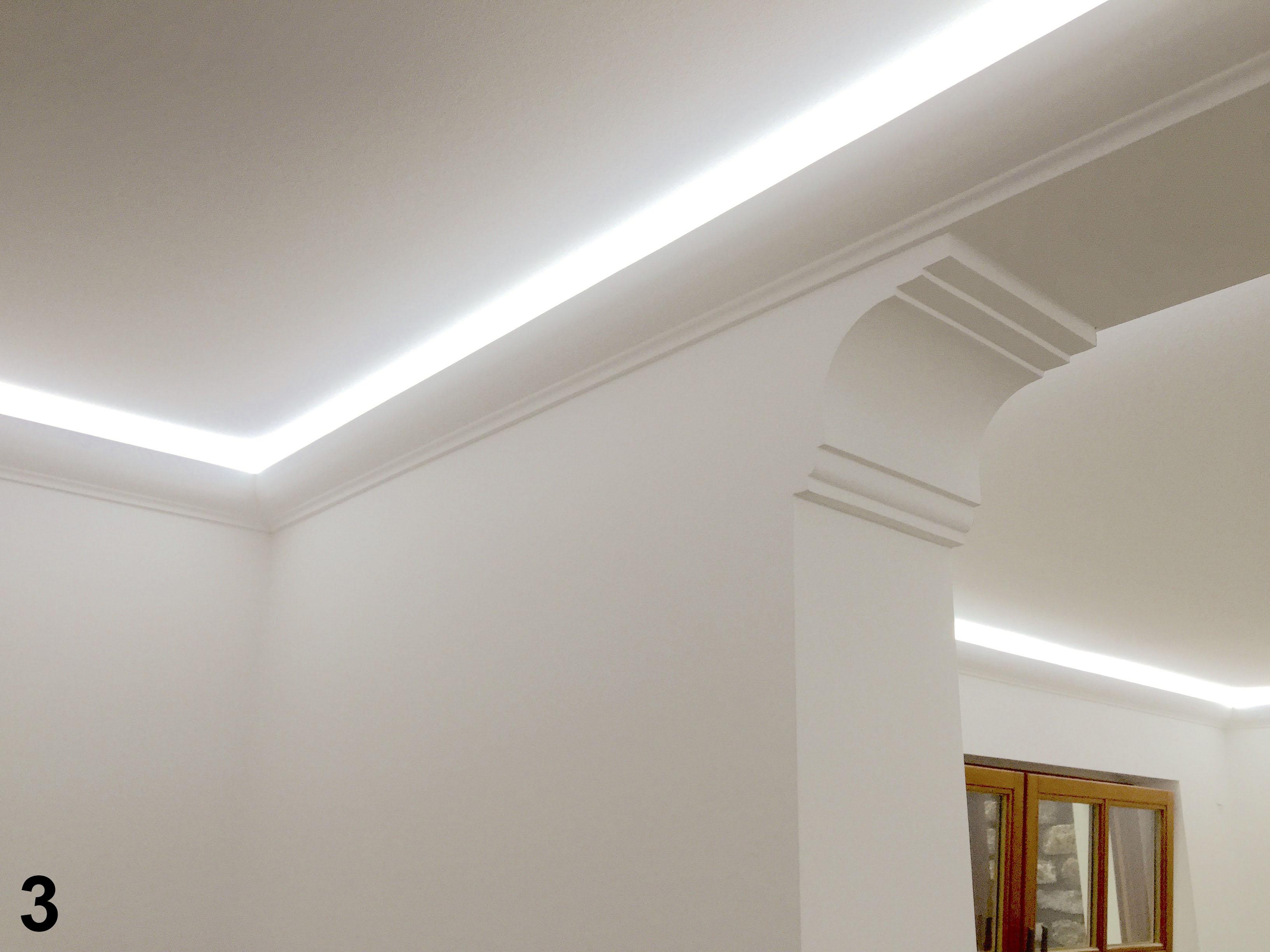 2 meter led profil pu stuckleiste indirekte beleuchtung sto fest 80x70 led 1 ebay. Black Bedroom Furniture Sets. Home Design Ideas