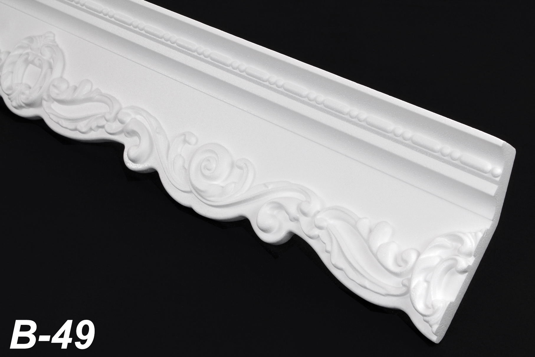 2 meter cornice coving stucco decor polystyrene 145x50mm b 49. Black Bedroom Furniture Sets. Home Design Ideas