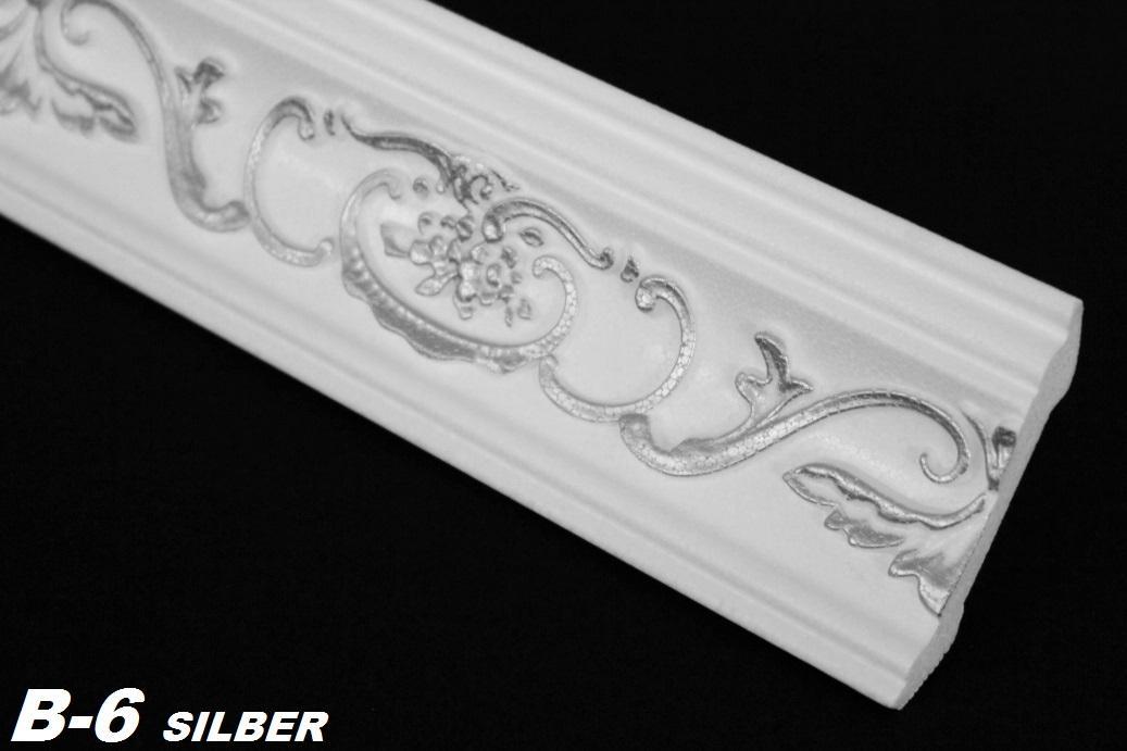 10 meter styroporleisten deckenprofile stuck dekor 53x53mm b 6 silber l hne. Black Bedroom Furniture Sets. Home Design Ideas