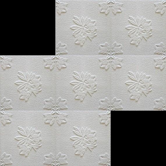 1 m2 deckenplatten styroporplatten stuck decke dekor platten 50x50cm flora dekore aus. Black Bedroom Furniture Sets. Home Design Ideas