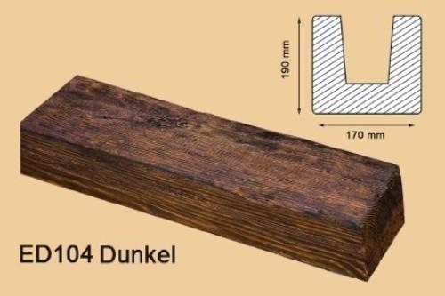 2 Meter Deckenbalken Balken Holzimitat 190x170mm ED104 D ...