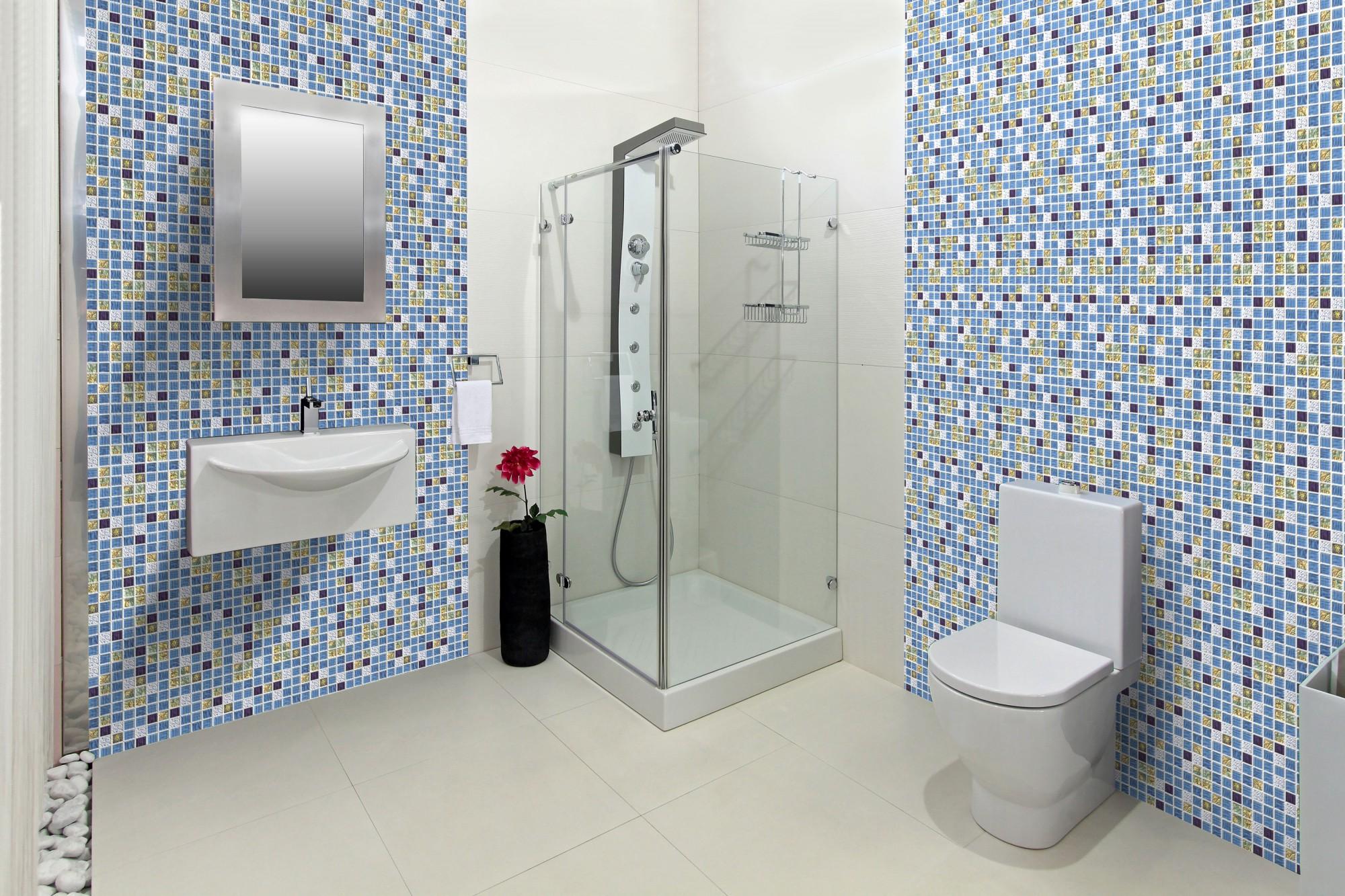 1 pvc dekorplatte mosaic wandverkleidung platten wand. Black Bedroom Furniture Sets. Home Design Ideas