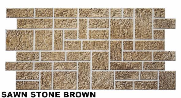 1 pvc dekorplatte mosaic wandverkleidung platten wand 95x48cm sawn stone brown dekore aus pvc. Black Bedroom Furniture Sets. Home Design Ideas