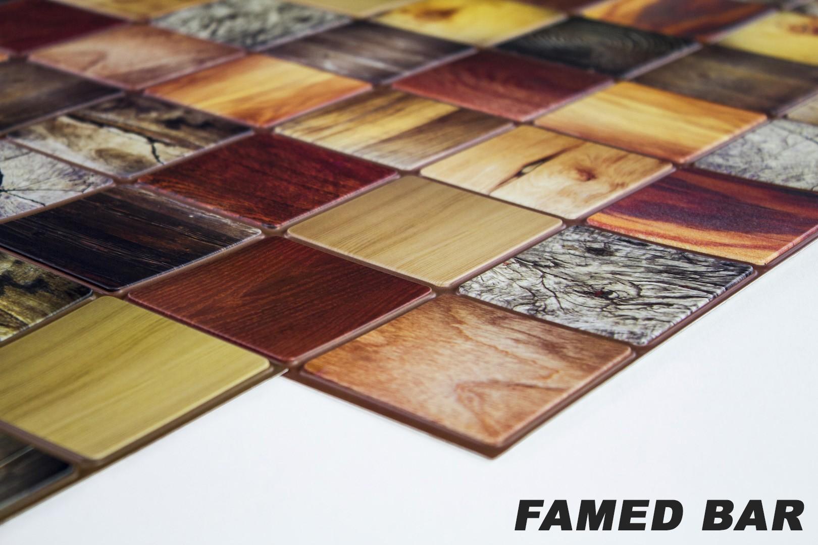 1 pvc dekorplatte mosaic wandverkleidung platten wand 95x48cm famed bar dekore aus pvc dekorplatten. Black Bedroom Furniture Sets. Home Design Ideas