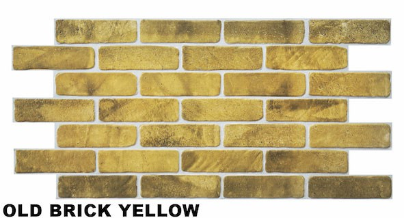 1 pvc dekorplatte mosaic wandverkleidung platten 95x48cm old brick yellow dekore aus pvc. Black Bedroom Furniture Sets. Home Design Ideas