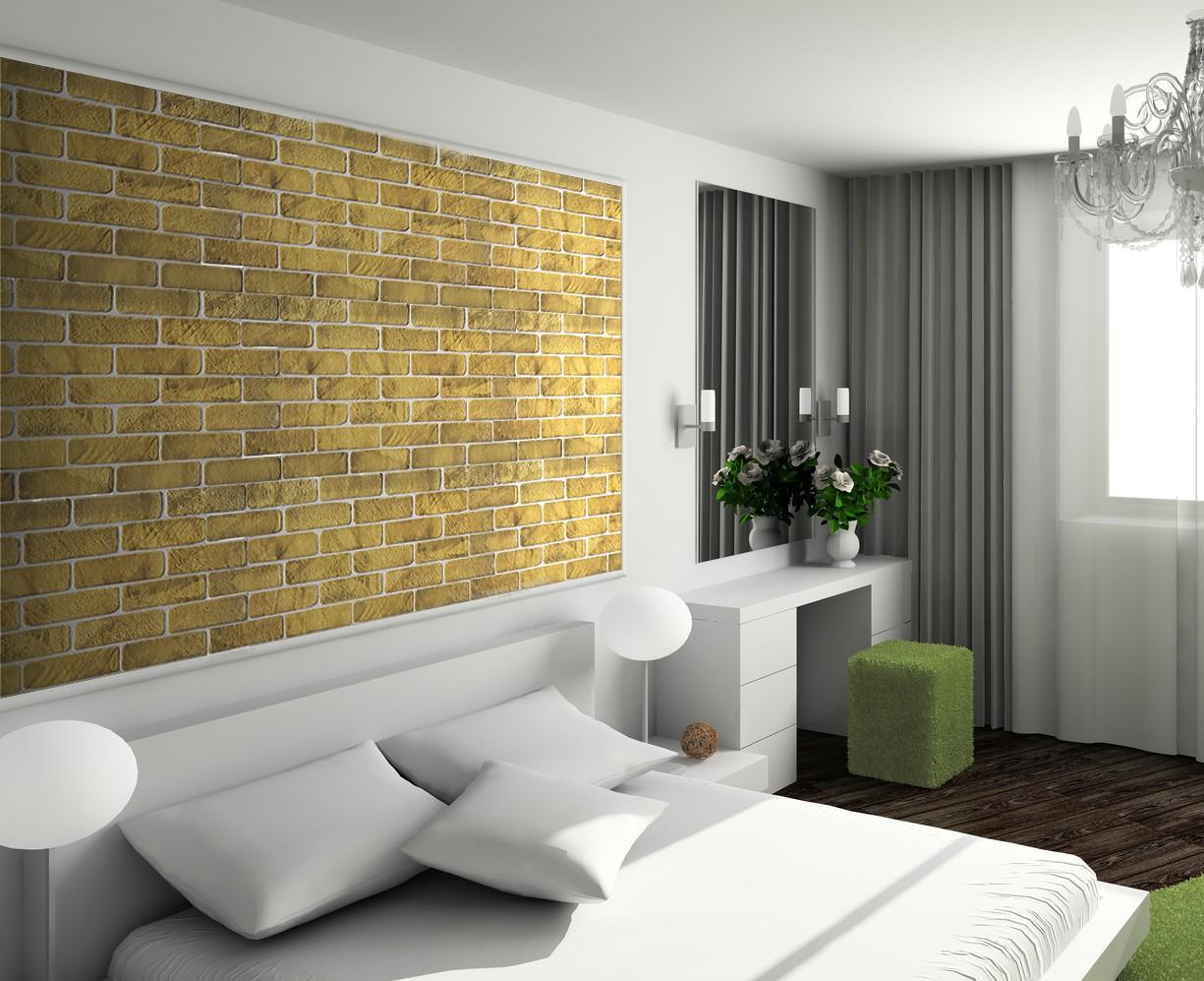 1 pvc dekorplatte mosaic wandverkleidung platten 95x48cm old brick yellow dekore aus pvc. Black Bedroom Furniture Sets. Home Design Ideas