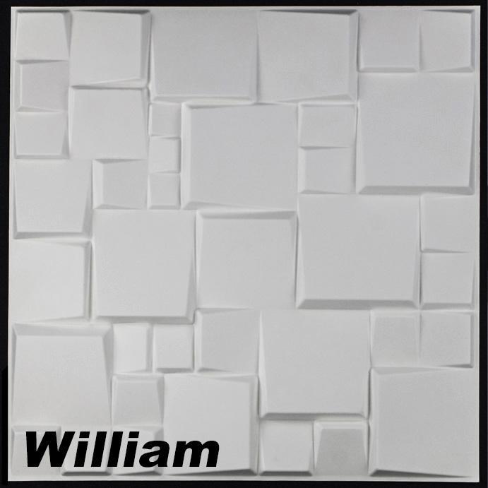 5 m2 paneele 3d platten wandpaneele 3d wandplatten wand decke 50x50cm william ebay. Black Bedroom Furniture Sets. Home Design Ideas