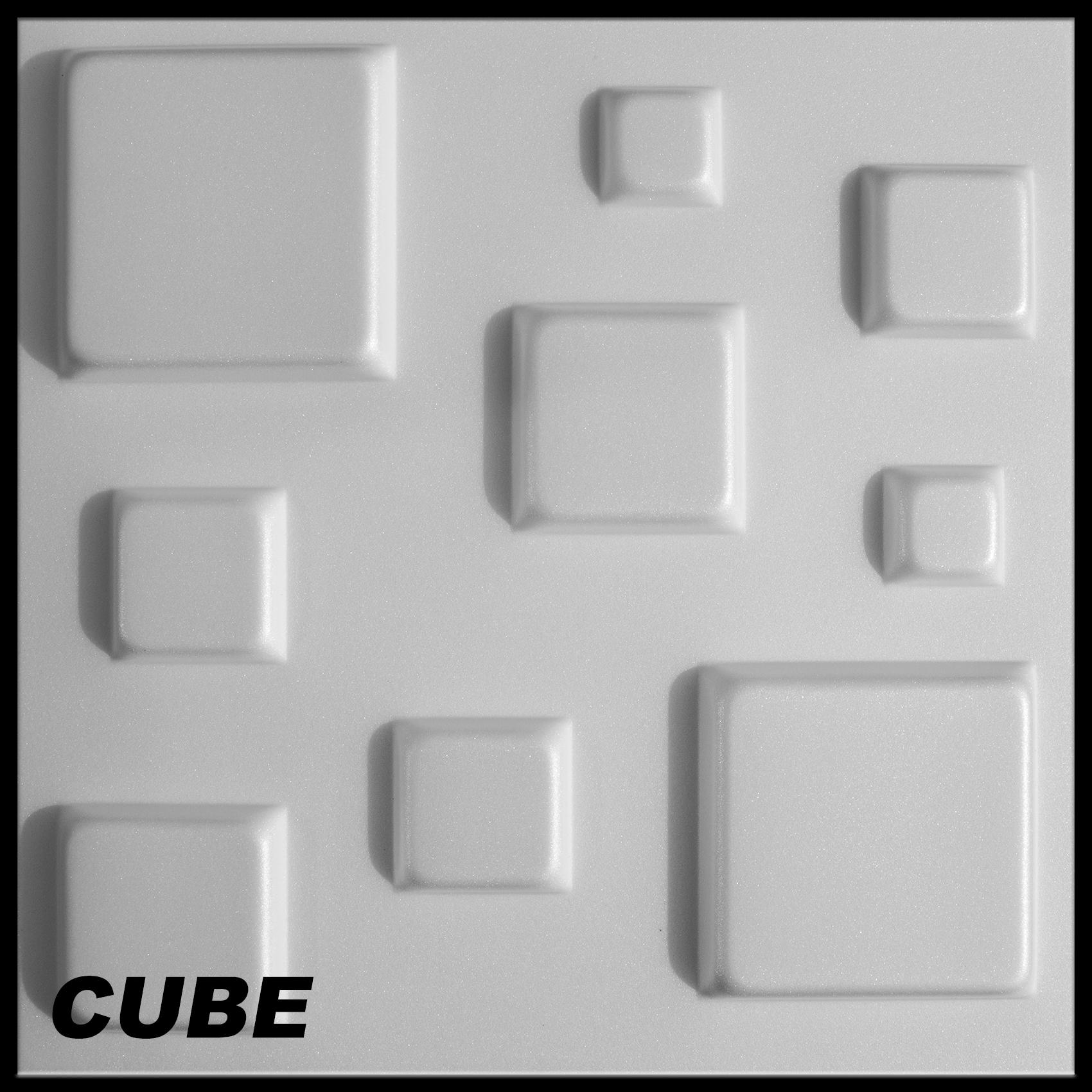 1 m2 platten 3d polystyrol wand decke paneele wandplatten 50x50cm cube ebay. Black Bedroom Furniture Sets. Home Design Ideas