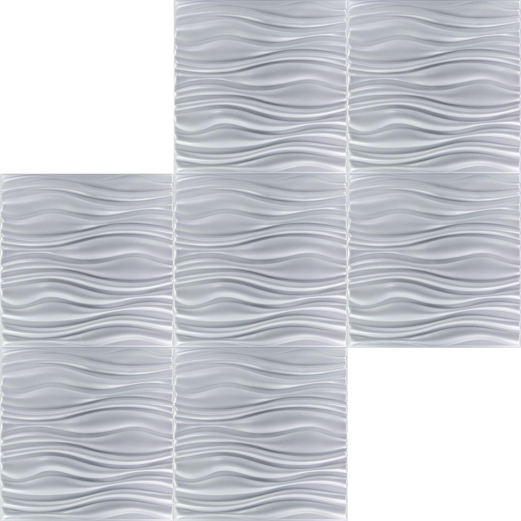 5 m2 platten 3d polystyrol wand decke paneele wandplatten 50x50cm flow ebay. Black Bedroom Furniture Sets. Home Design Ideas