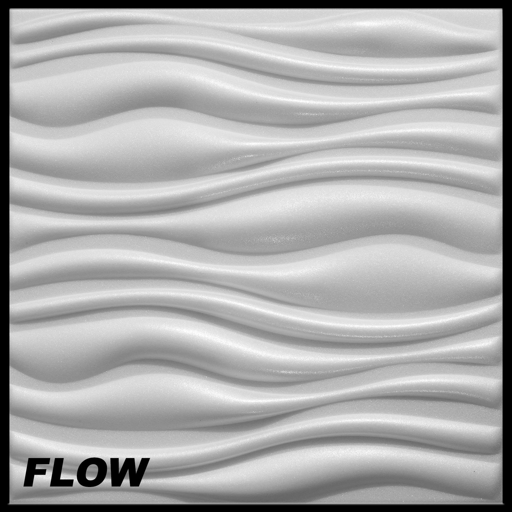 1 m2 platten 3d polystyrol wand decke paneele wandplatten 50x50cm flow ebay. Black Bedroom Furniture Sets. Home Design Ideas