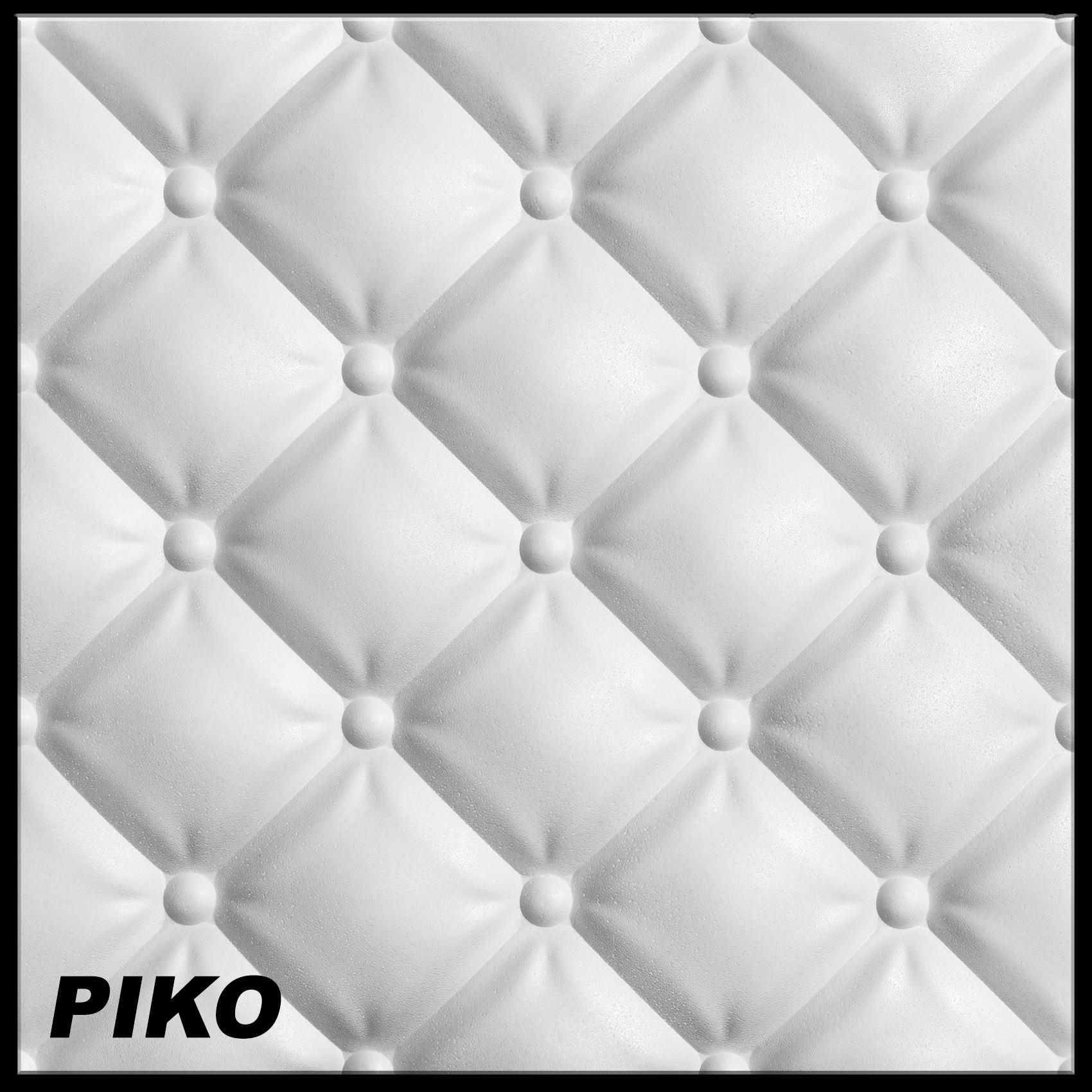 1 platte 3d polystyrol wand decke paneele dekor wandverkleidung 60x60cm piko ebay. Black Bedroom Furniture Sets. Home Design Ideas