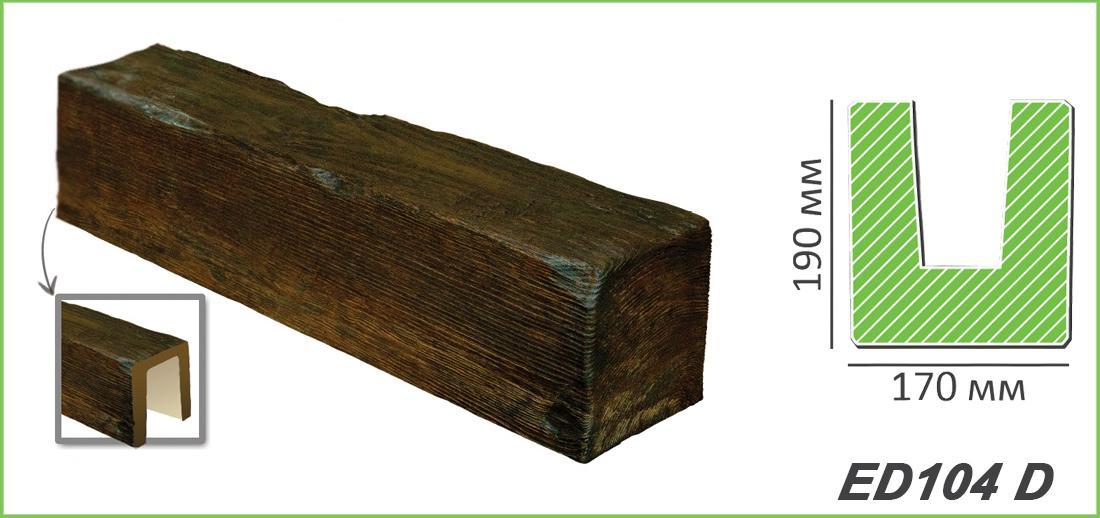 Mètre Poutres Au Plafond Bâton Imitation bois 190x170mm ED104 D  ~ Poutre Imitation Bois