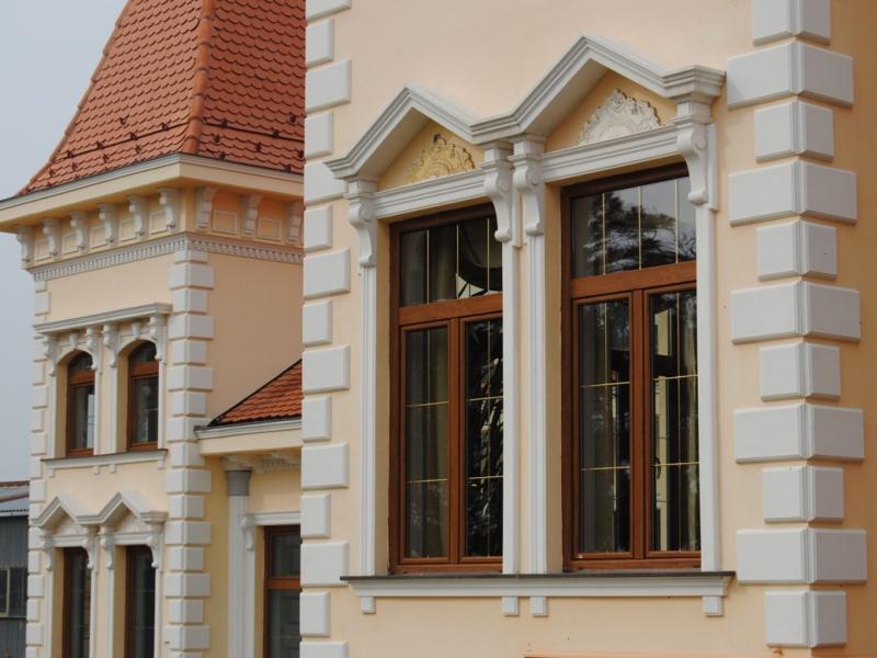 1 keystone facade stucco outdoor decoration shockproof for Capstone exterior design firm