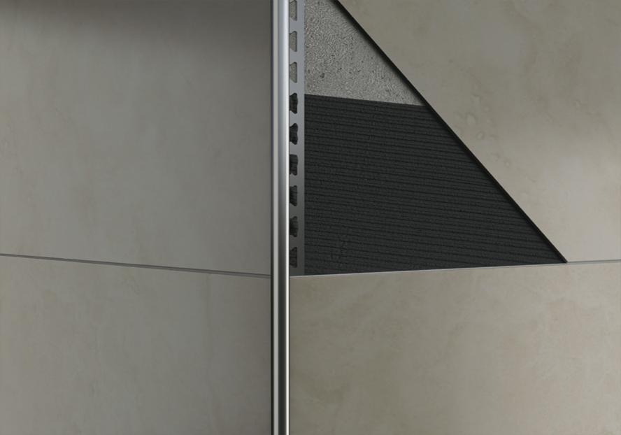 Metri acciaio inox rund form viertelkreisprofil piastrelle