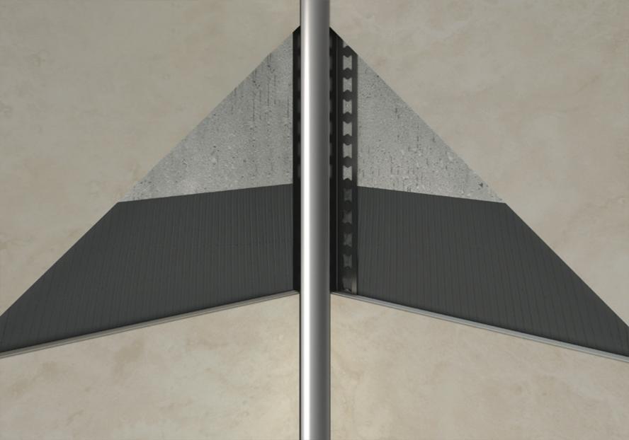 20 meter edelstahl randfugenprofile innenecke hohlkehle. Black Bedroom Furniture Sets. Home Design Ideas