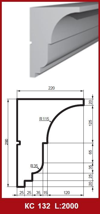 2m fa ade profil fa ade ext rieure moulure profil de d cor 290x220mm kc132 ebay. Black Bedroom Furniture Sets. Home Design Ideas