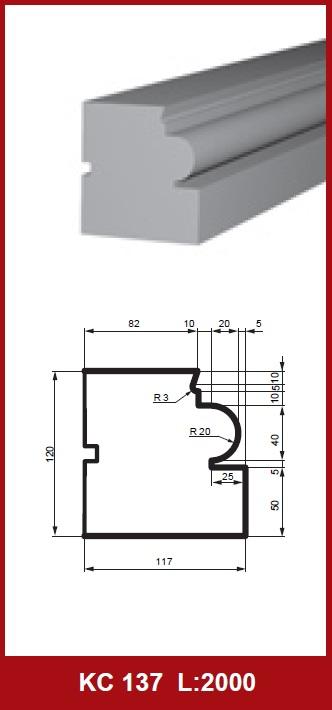 2 metri universale profilo di cornicione casa decorazione for Colonne quadrate decorative