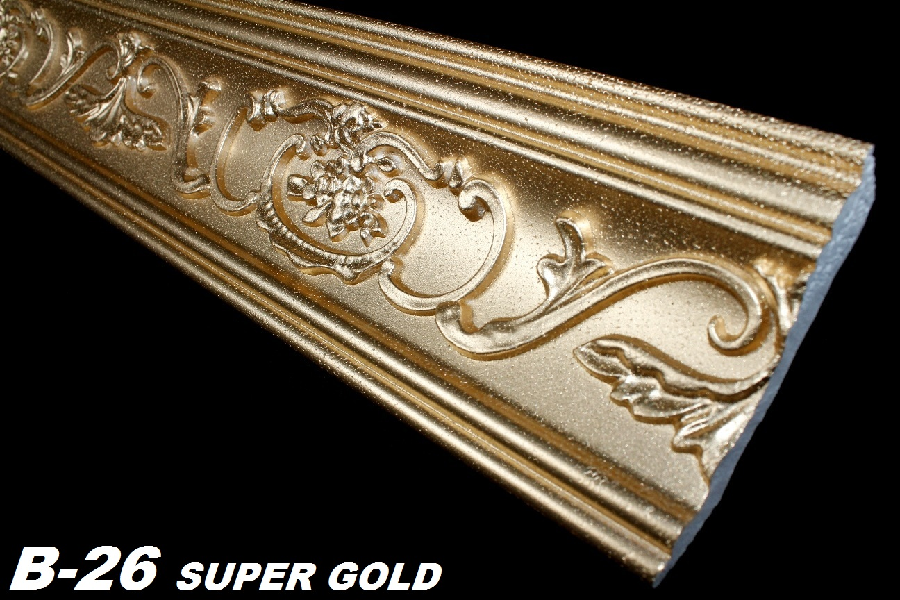 10 meter leisten decke dekor stuck eckprofile 53x88mm b 26 super gold ebay. Black Bedroom Furniture Sets. Home Design Ideas