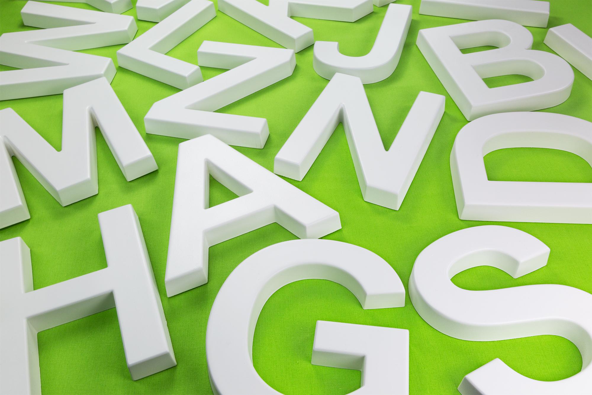 a bis z 3d buchstaben pu alphabet 20cm wand dekor abc schrift design