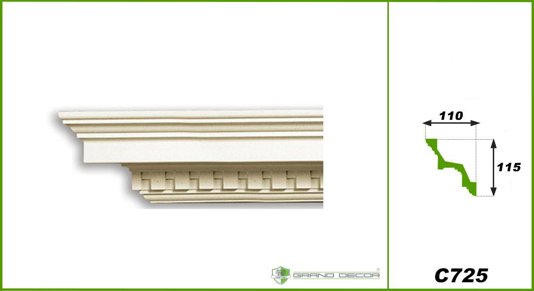 2 meter pu zierprofil leiste wand innen dekor stuck ecke sto fest 115x110mm c725 ebay. Black Bedroom Furniture Sets. Home Design Ideas