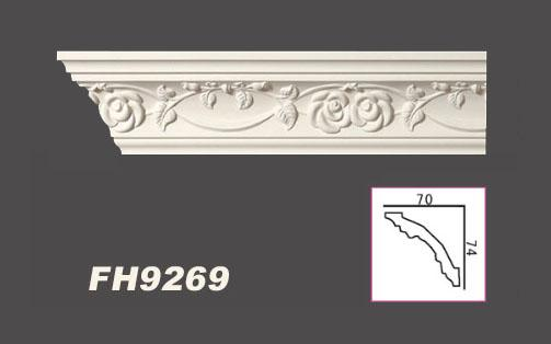 19 2 m tres pu baguettes d coratives d coration profil for Fausses poutres decoratives polyurethane