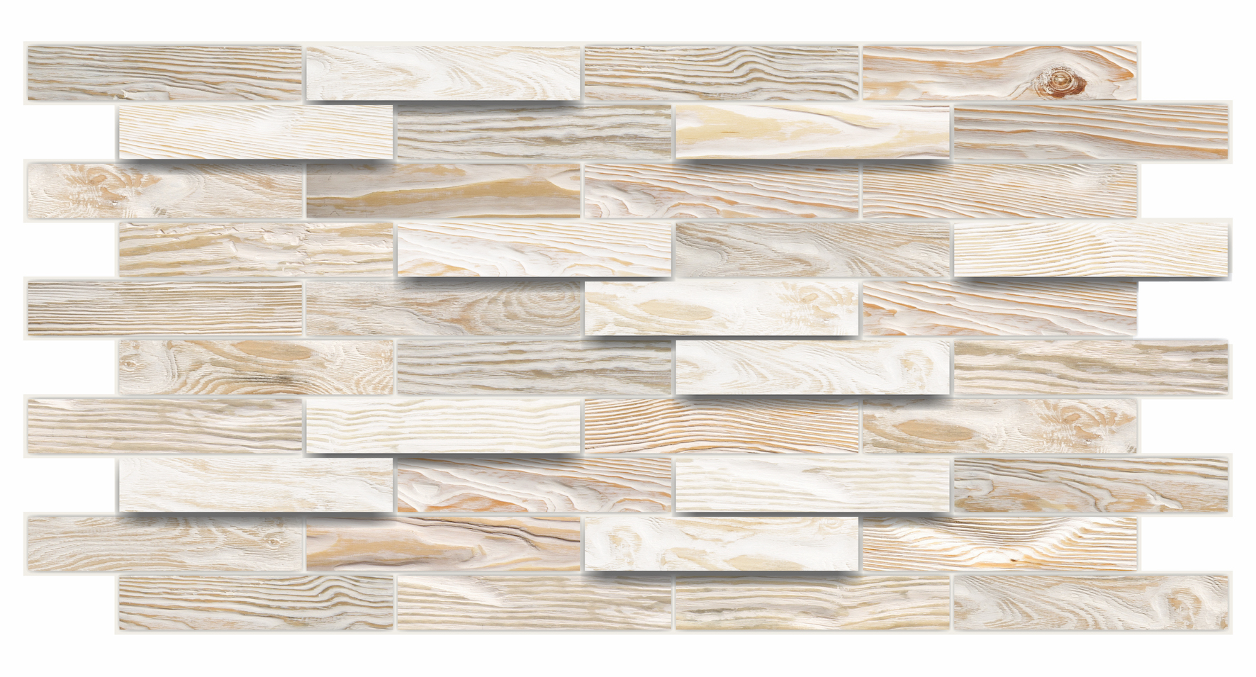 1 pvc dekorplatte mosaic wandverkleidung platten wand 98x48cm bleached oak ebay. Black Bedroom Furniture Sets. Home Design Ideas