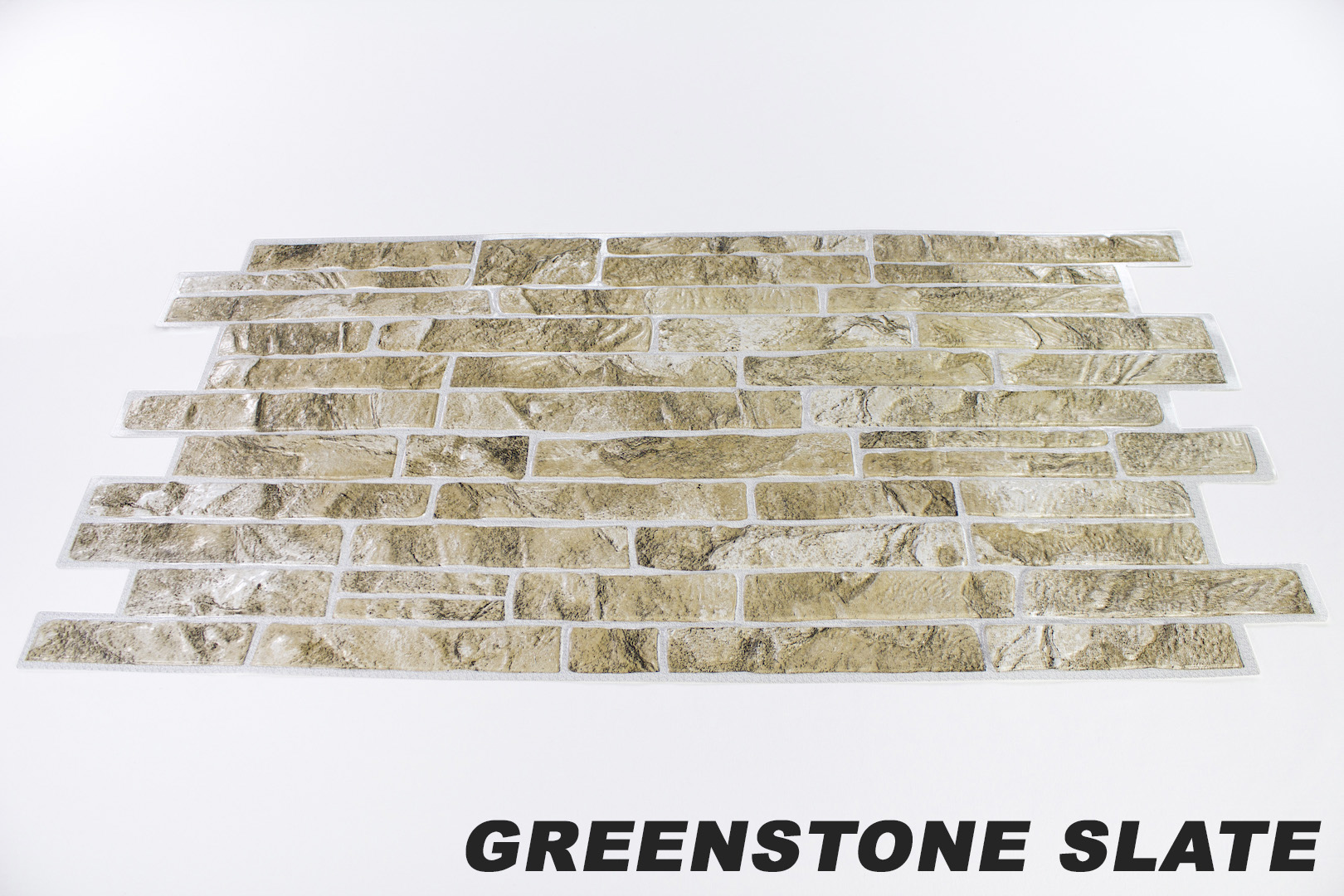 1 pvc dekorplatte mosaic wandverkleidung platten wand 95x48cm greenstone slate ebay. Black Bedroom Furniture Sets. Home Design Ideas