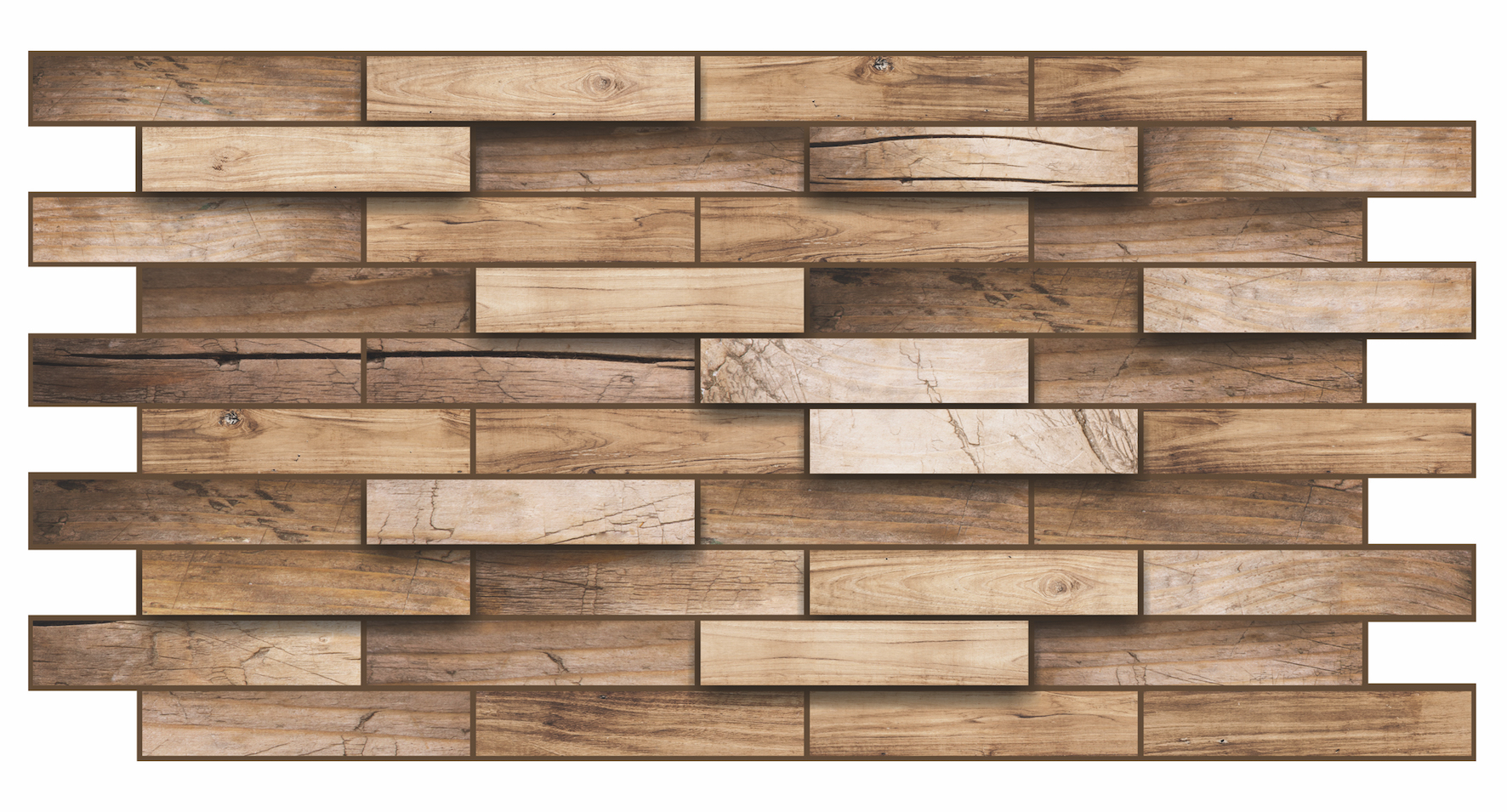 1 pvc dekorplatte mosaic wandverkleidung platten wand 98x48cm walnut ebay. Black Bedroom Furniture Sets. Home Design Ideas