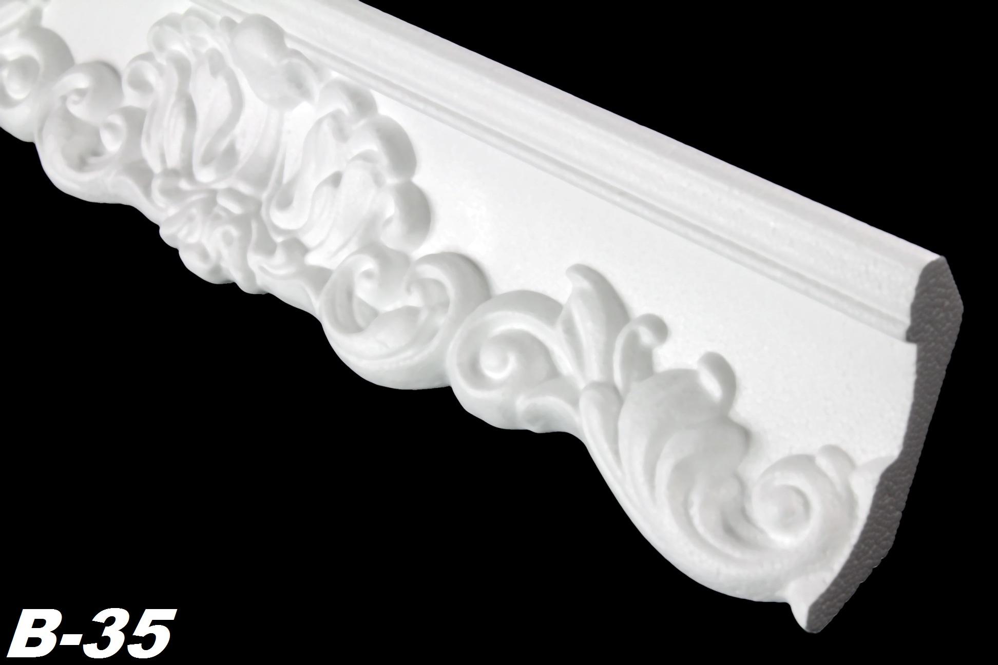 2 meter zierleiste innendekor dekorprofil stuck decke 52x63mm b 35 ebay. Black Bedroom Furniture Sets. Home Design Ideas
