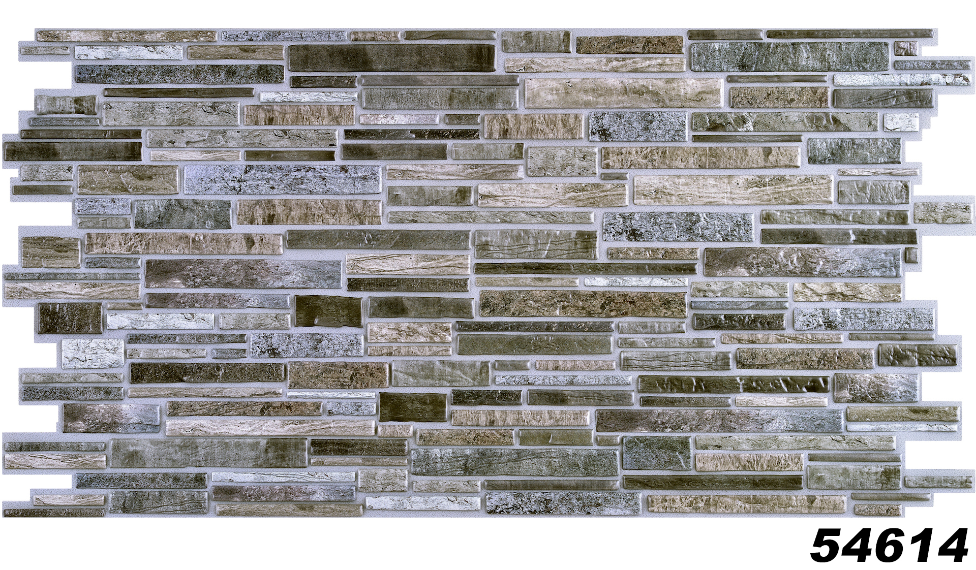 1 Pvc Dekorplatte Steindekor Wandverkleidung Platten Wand 98x49cm