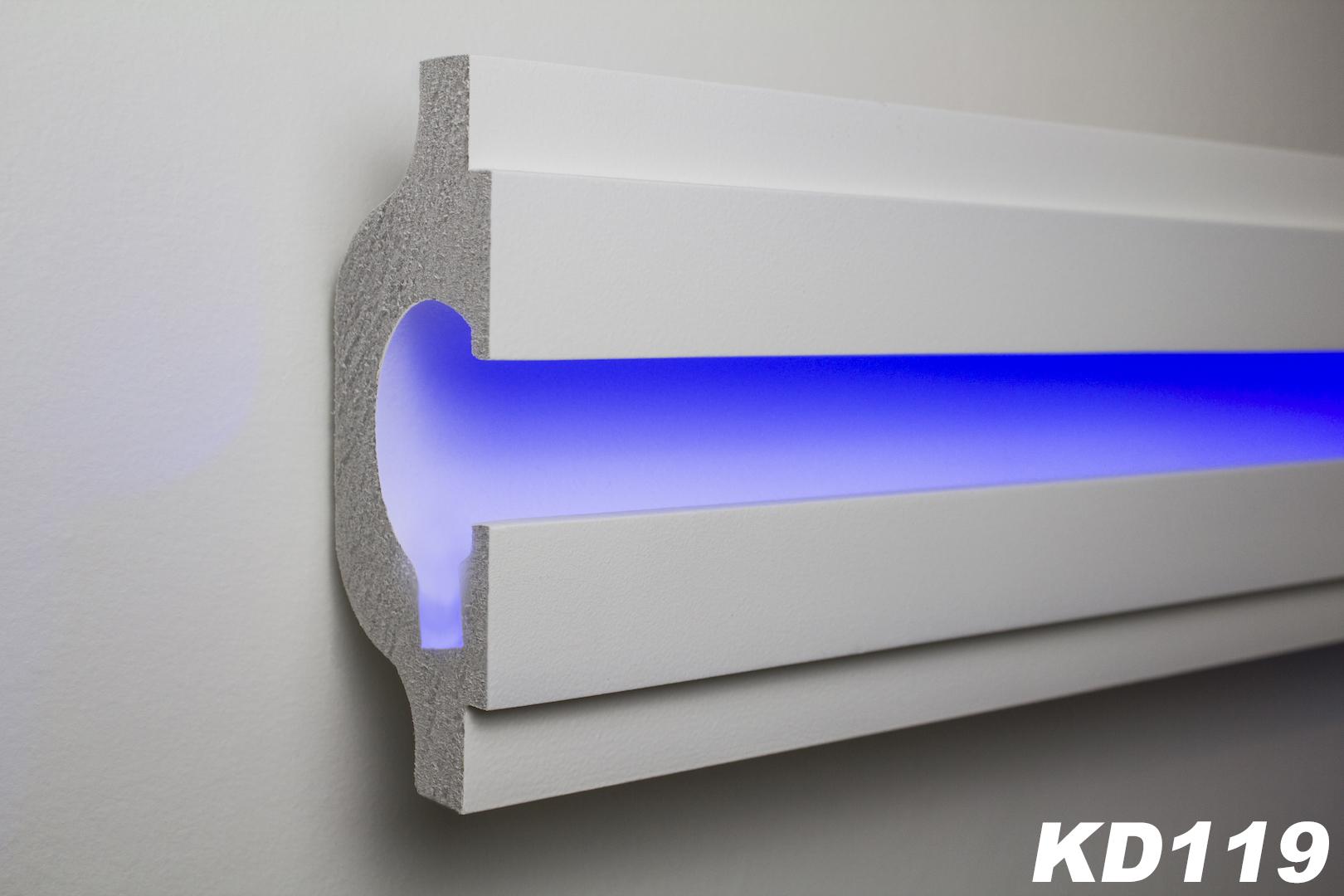 1 15 meter led stucco strip for indirect lighting xps - Led skirting board lighting ...