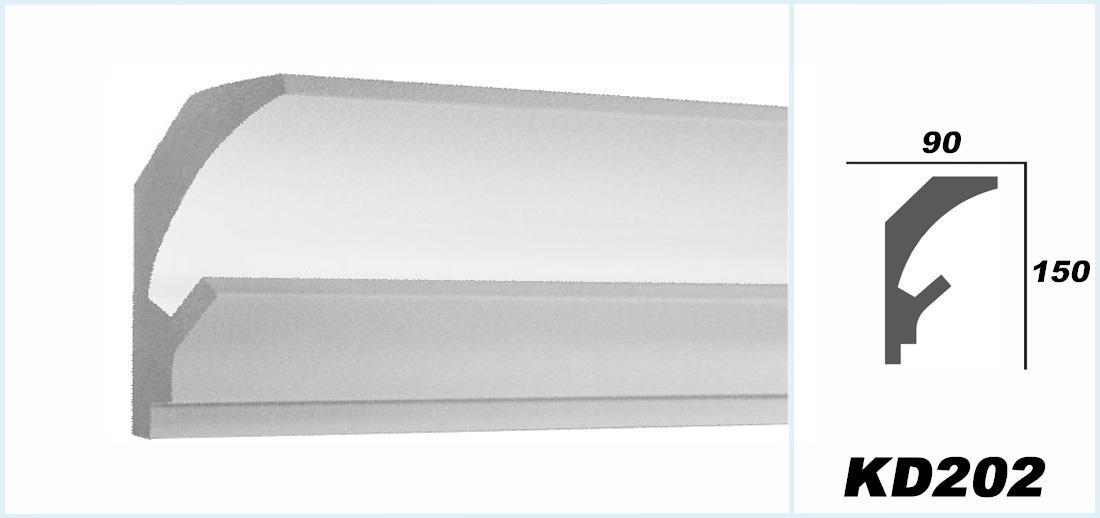 1 15 m tres led moulure en stuc pour eclairage indirect for Miroir 150x90