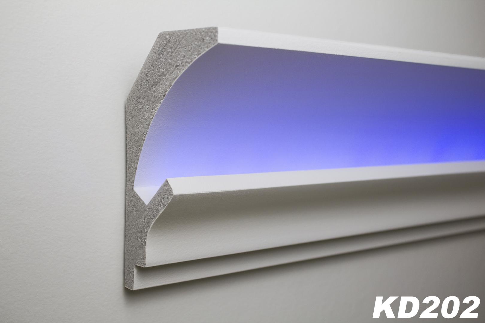 1 15 meter led stuckleiste f r indirekte beleuchtung xps 150x90 kd202 ebay. Black Bedroom Furniture Sets. Home Design Ideas