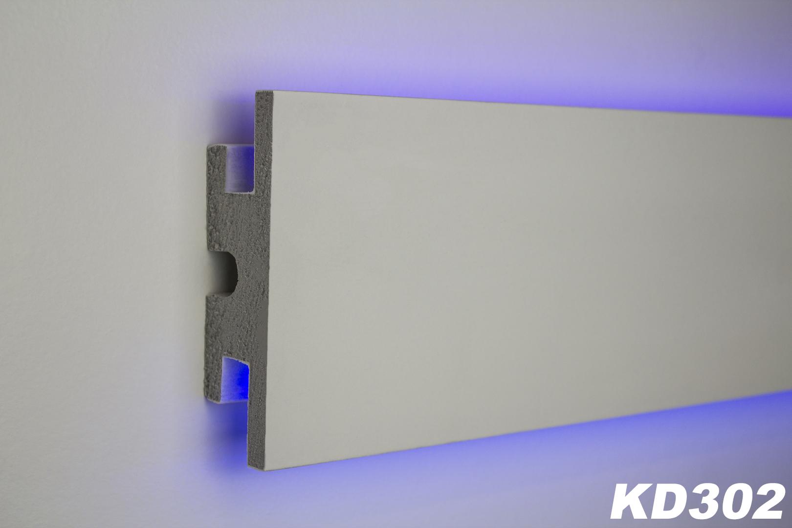1 15 meter led stuckleiste f r indirekte beleuchtung xps 120x40 kd302 ebay. Black Bedroom Furniture Sets. Home Design Ideas