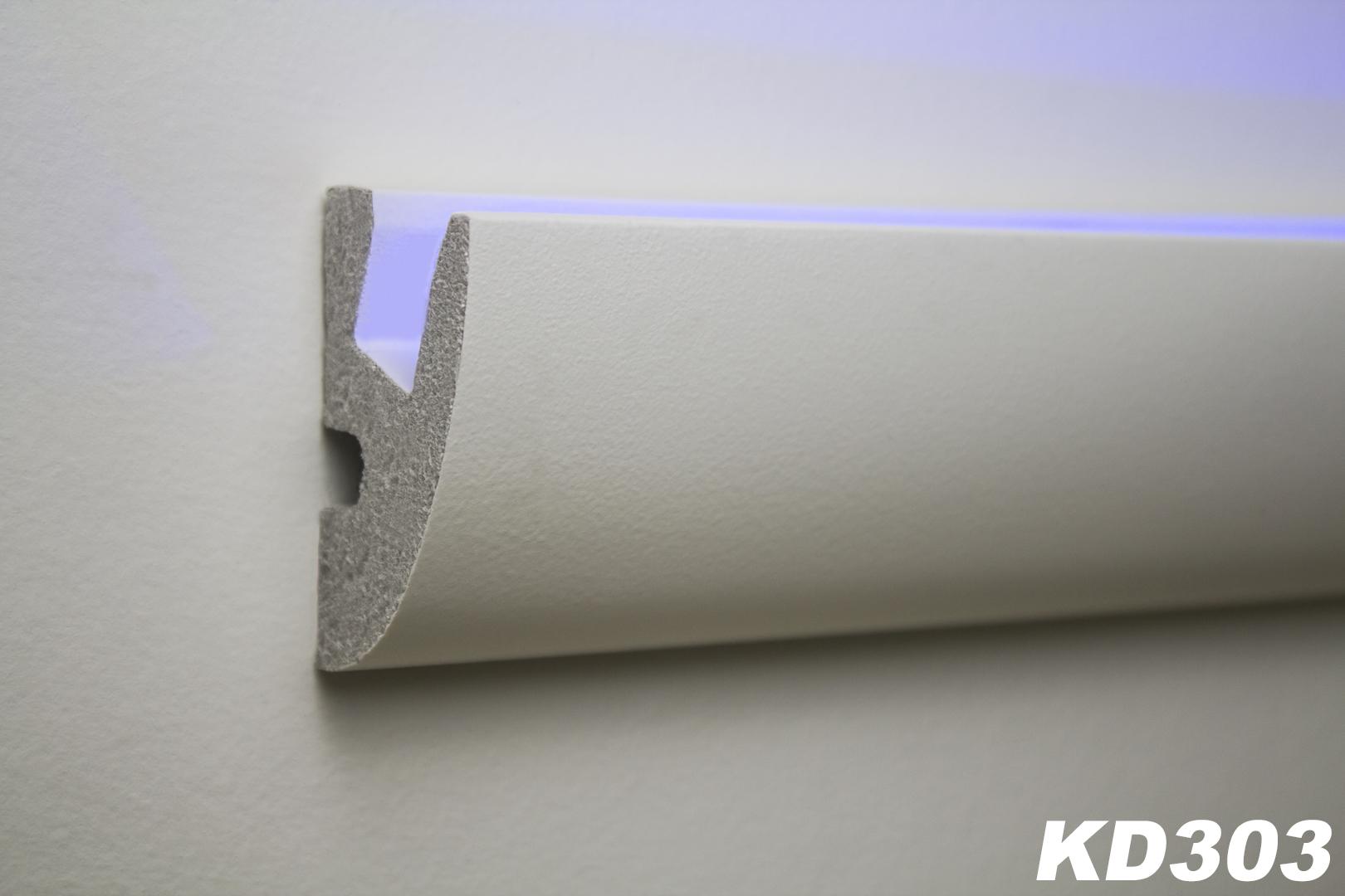 1 15 m tres led moulure en stuc pour eclairage indirect xps 65x40 kd303 ebay. Black Bedroom Furniture Sets. Home Design Ideas