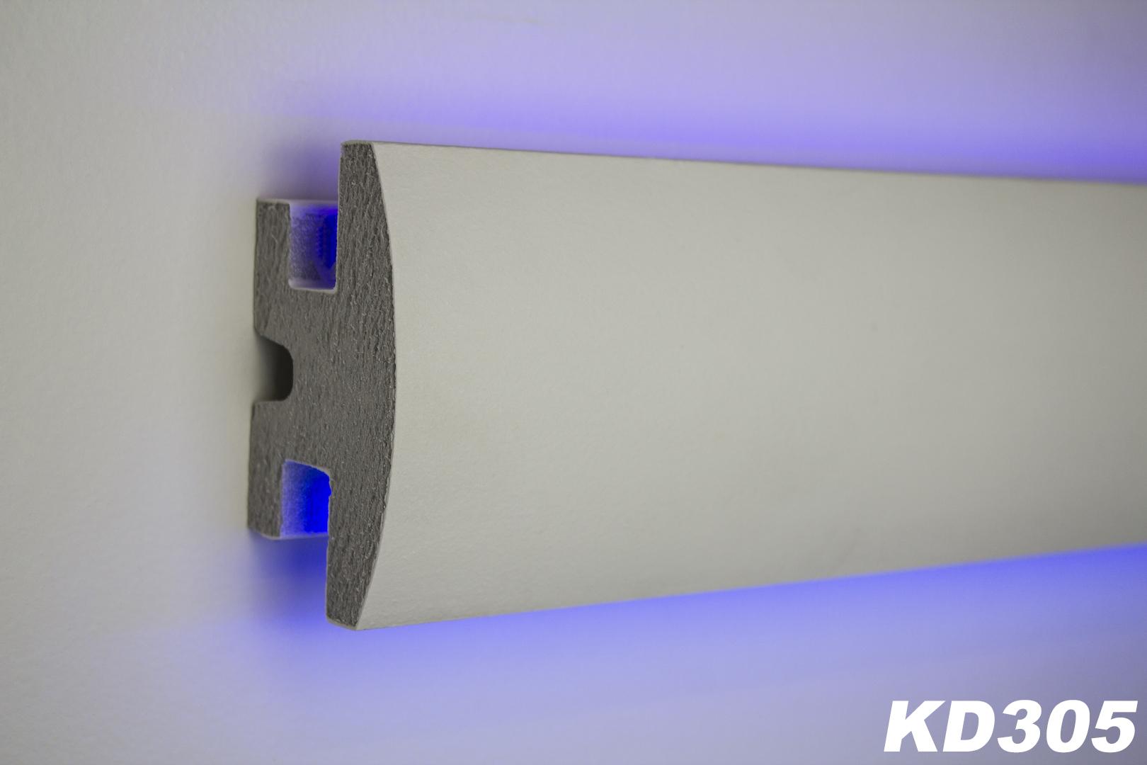 1 15 meter led stuckleiste f r indirekte beleuchtung xps 90x50 kd305 ebay. Black Bedroom Furniture Sets. Home Design Ideas