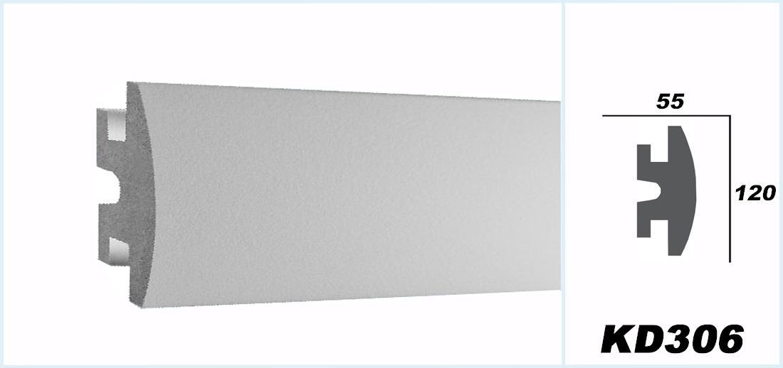 1 15 meter led stuckleiste f r indirekte beleuchtung xps 120x55 kd306 ebay. Black Bedroom Furniture Sets. Home Design Ideas