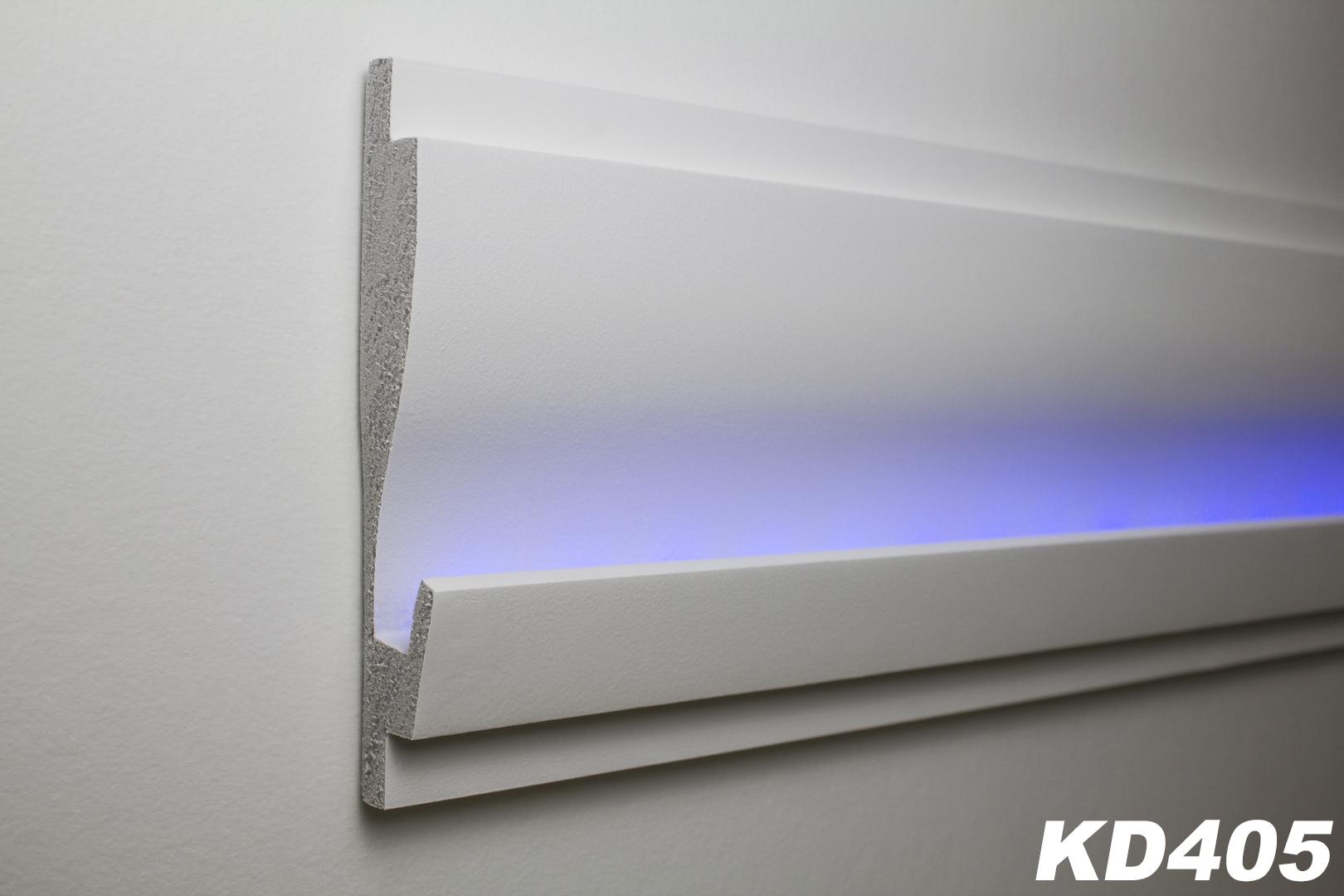 1 15 meter led stuckleiste f r indirekte beleuchtung xps 180x35 kd405 ebay. Black Bedroom Furniture Sets. Home Design Ideas