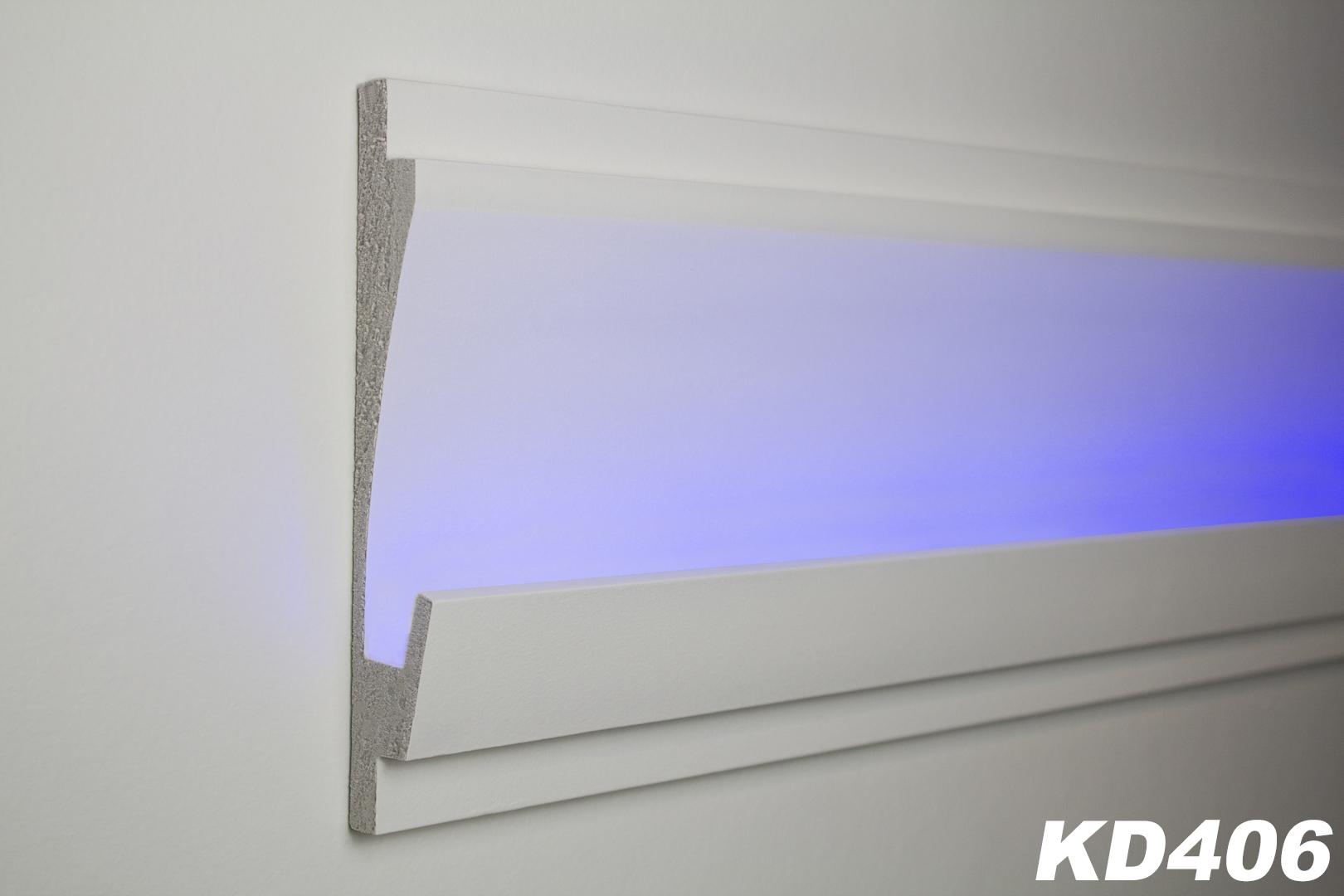 1 15 meter led stuckleiste f r indirekte beleuchtung xps 185x35 kd406 ebay. Black Bedroom Furniture Sets. Home Design Ideas