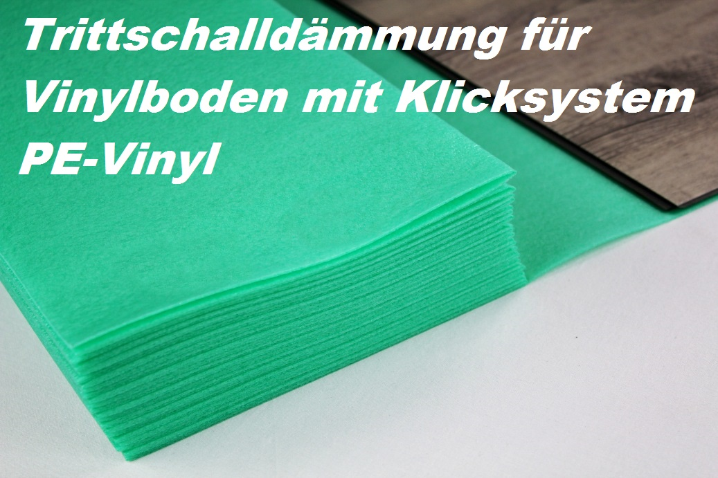 10 m trittschalld mmung f r vinylboden boden unterlage klick vinyl pe vinyl ebay. Black Bedroom Furniture Sets. Home Design Ideas