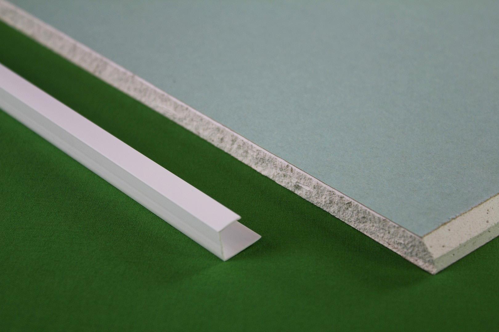 10 Meter PVC Kantenprofil Für Gipskarton Platten Rigips 12