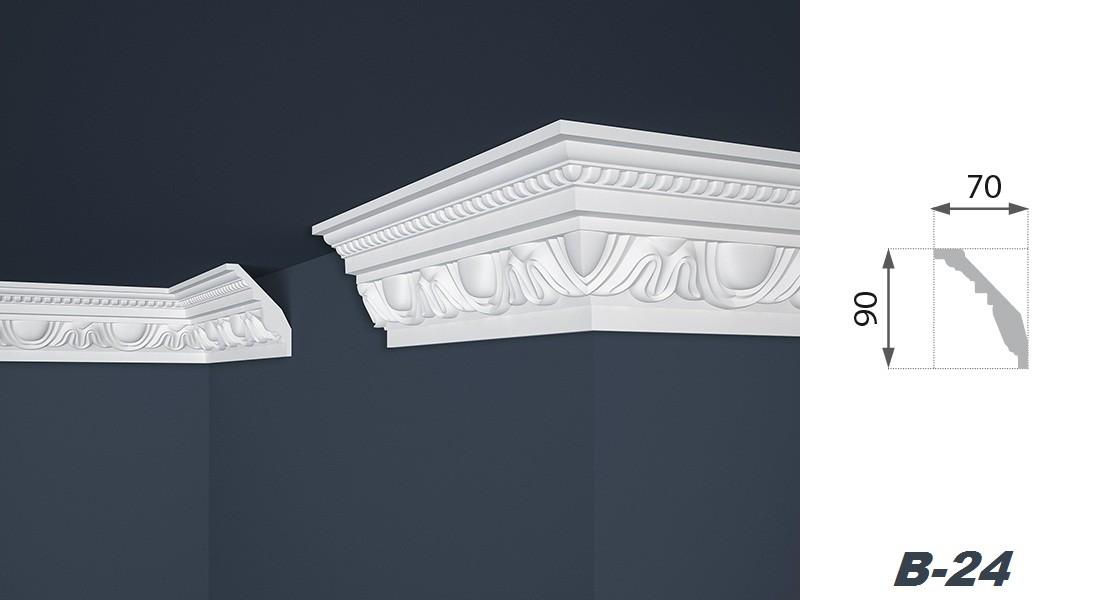 20 meter stuckleisten eckprofile styropor innendekoration 70x90mm b 24 sparpakete zierleisten. Black Bedroom Furniture Sets. Home Design Ideas
