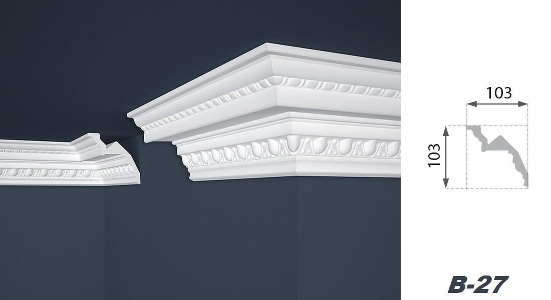 2 meter stuckprofil styropor deckenleiste dekoration 103x103mm b 27 decke zierleisten mit. Black Bedroom Furniture Sets. Home Design Ideas