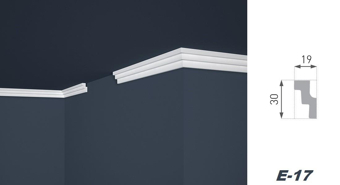 10 meter leisten stuck dekor profile innen styropor hart 19x30mm e 17 sparpakete zierleisten. Black Bedroom Furniture Sets. Home Design Ideas
