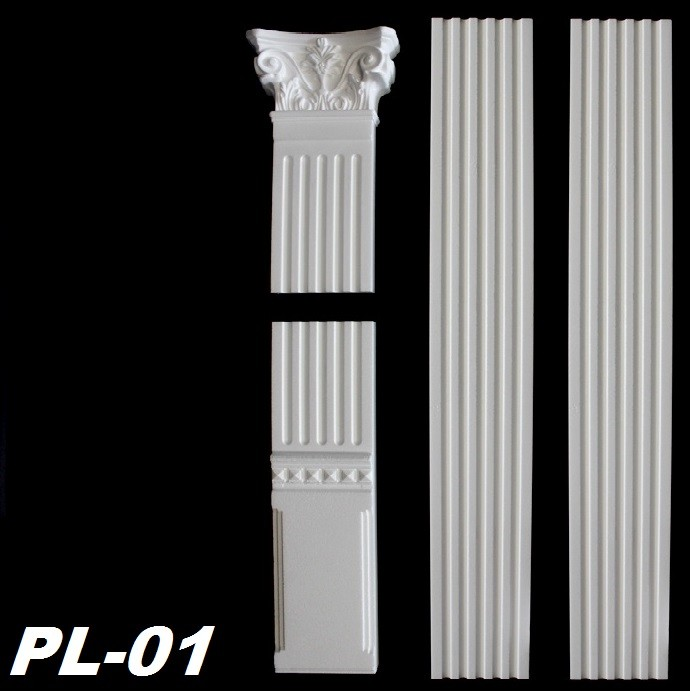 3 meter pilaster flachs ule wands ule s ule stuck stuckprofil wandprofil pl 01 dekore aus. Black Bedroom Furniture Sets. Home Design Ideas